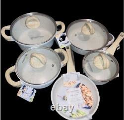 Masterclass Premium Cookware Set 9 Pièces Plat À La Crème Moucheté, Skillet