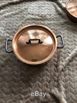 Matfer Bourgeat 10 Piece Bourgeat Cookware Set Cuivre Doublure En Acier Inoxydable