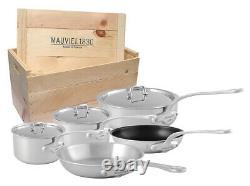 Mauvel M'urban Ensemble De Produits De Cuisine De 8 Pièces Avec Grille En Bois