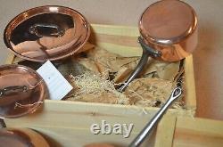 Mauviel 6400.01 5 Pièce Cuivre & Ustensiles De Cuisine En Acier Inoxydable Ensemble Avec Poignées En Fonte