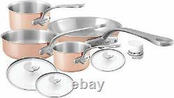 Mauviel M'3 Cuivre Tri-ply 7 Piece Cookware Set W Poignée En Acier Inoxydable 7700.07