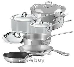 Mauviel M'cook 5 Ply Stainless Steel 10 Piece Cookware Set 5200.23 Nouveau