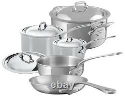 Mauviel M'cook 5 Ply Stainless Steel 9 Piece Cookware Set With Cast Ss Handle