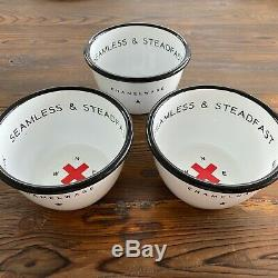 New 19 Piece Best Made Co. De New York Cup Plate Enamelware Bowl Tasse Set