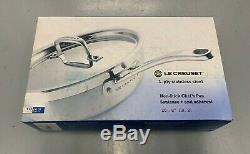 New Bnib Le Creuset 3-ply Batterie De Cuisine En Acier Inoxydable, 4 Pièces