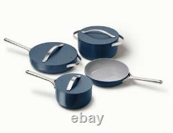 New Caraway 7-piece Cookware Set Non-stick Ceramic Coated Non-toxic Navy Blue