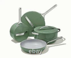 New Caraway 7-piece Cookware Set Non-stick Céramique Coated Non-toxic Sage Couleur