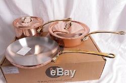 Nib Batterie De Cuisine 5 Pièces En Cuivre Mauviel M'150b De Williams Sonoma