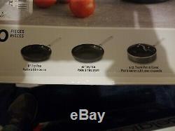 Nib Calphalon Classique Antiadhésives 10 Pièces Batterie De Cuisine