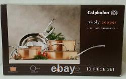 Nib Calphalon T10 Tri-ply Cuivre 10 Piece Set