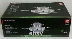 Nib Zwilling Vistaclad 7-piece Ceraforce Ultra Cookware Set Entièrement Collé Tri-ply
