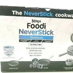 Ninja Foodi Neverstick Premium 10-piece Cookware Set Open Box Nouveau