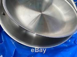 Nouveau 1499 $ All-clad Copper Base 10 Pièces Batterie De Cuisine Pan Pot Le Bateau Libre