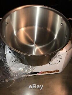 Nouveau All-clad 14 Pc Piece 5 Ply Cuivre Noyau Poli Batterie De Cuisine En Acier Inoxydable