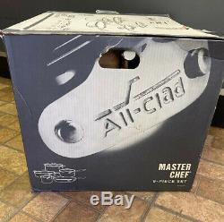Nouveau All-clad Master Chef Batterie De Cuisine, 9 Pièces, Argent