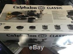 Nouveau! Batterie De Cuisine Antiadhésive Classique Calphalon, 10 Pièces, Gris 1943338
