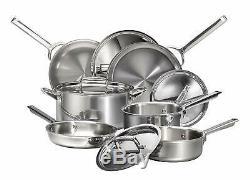 Nouveau Loup Gourmet 10 Piece Cookware En Acier Inoxydable Set Wgcw101si Nib