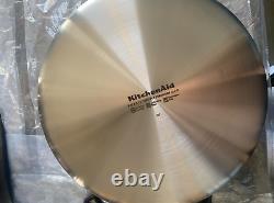 Nouveau Modèle D'affichage Kitchenaid 5-ply Clad Stainless Steel Cookware 10 Piece Set