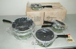Nouveau! Nos! Vtg 10- Piece Club Aluminium Avocat Waterless Cookware Set Teflon II