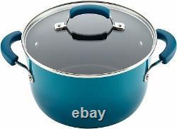Nouveau! Rachael Ray 14 Piece Hard Enamel Marine Blue Non Stick Kitchen Cookware Set