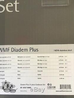 Nouveau Wmf 07 3057 6040. Wmf Diadem Plus 11 Pièces Batterie De Cuisine, En Acier Inoxydable