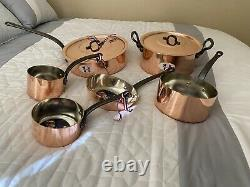 Nouvel Ensemble De Baumalu Copper Cookware 8 Piece