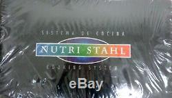 Nutri Stahl 22 Piece Cookware Set Nutri-stahl Faire Cuire Sans Huile Ou De L'eau