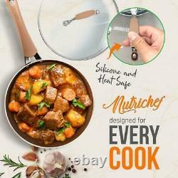 Nutrichef Nccw20s Haute Cuisine Qualifié De Base Batterie De Cuisine, Antiadhésifs 20 Pièces