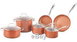 Nuwave Duralon Céramique Antiadhésives 10 Pièces Forged Batterie De Cuisine
