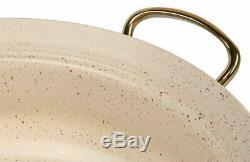 Oms Batterie De Cuisine Ivoire Blanc 9 Piece Non Stick Glass Set Pan Pot Couvercles Casserole 3045
