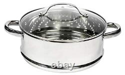 Orgreenic Diamond Granite 10 Piece All In One Cookware Set With Anti-stick Fry &