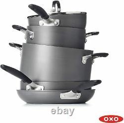 Oxo Good Grips Antistick 10 Piece Cookware Set, Noir