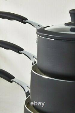 Pan Set 7 Piece Professional Black Cookware Sauce Casserole Friture Cuisson Antiadhésive