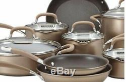 Premier Circulon Dur Anodisée Induction 13 Piece Cookware Set, Bronze