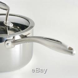 Procook Tri-ply Induction Batterie De Cuisine En Acier 3 Ply Pots Casseroles Inox 4 __gvirt_np_nn_nnps<__ Piece