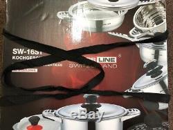 Professionnel 16 Pièces De Haute Qualité Batterie De Cuisine