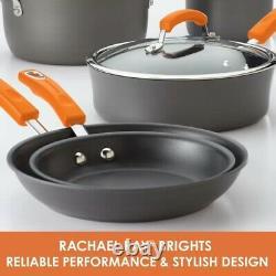 Rachael Ray 10 Pièces En Aluminium Anodisé Dur Ensemble D'articles De Cuisine Non Stick