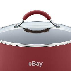 Rachael Ray 16339 Batterie De Cuisine, 12 Pièces, Canneberge Rouge Rachel Ray Pots