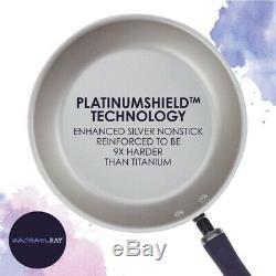 Rachael Ray Batterie De Cuisine En Aluminium Avec Revêtement Antiadhésif Couvercles, Shimmer Violet (13 Pièces)