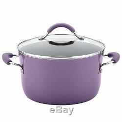 Rachael Ray Cucina Batterie De Cuisine Antiadhésive En Porcelaine Dure Antiadhésive, 12 Pièces, Lavend
