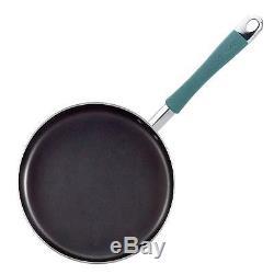 Rachael Ray Cucina Dur Émail Batterie De Cuisine Antiadhésive, 12 Pièces, Teal