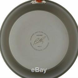 Rachael Ray Lave-vaisselle Anodisé 14 Pièces Batterie De Cuisine Gris / Garniture Orange