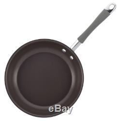 Rachel Ray Nouveau Disque Émail 12 Batterie De Cuisine Antiadhésive Piece Sel Gris