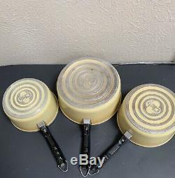 Rétro Club Aluminium Or Jaune 9 Pièces Batterie De Cuisine Avec 5 Pots / 4 Couvercles