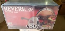 Retro Revere Ware Pot De 14 Pièces Avec Le Cuivre Fond # 34841 Nos Nib