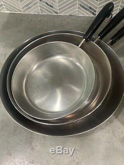 Revere Ware 14 Piece Set 1801 Cuivre Fond, Sauce Casseroles, Poêles, Couvercles
