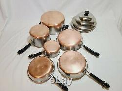 Revere Ware Copper Bottom 10 Pieces Set Vintage Pots & Pans Articles De Cuisine Revereware