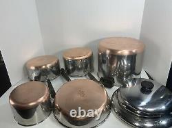 Revere Ware Copper Bottom 8 Pieces Set Vintage Pots & Pans Articles De Cuisine Revereware