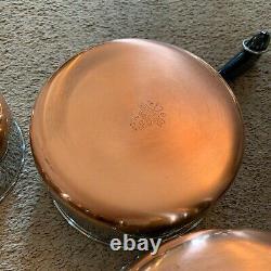 Revere Ware Copper Clad Collection 12 Piece Set Vintage Rare Nos