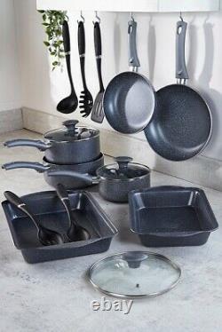 Russell Hobbs 13-piece Metallic Marble Value Cookware Set